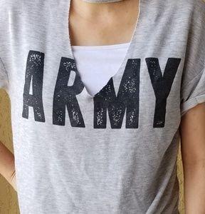 rue21 Womens Shortsleeve Shirt XL Grey